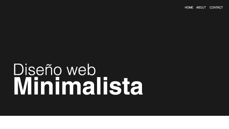 diseno-web-minimalista