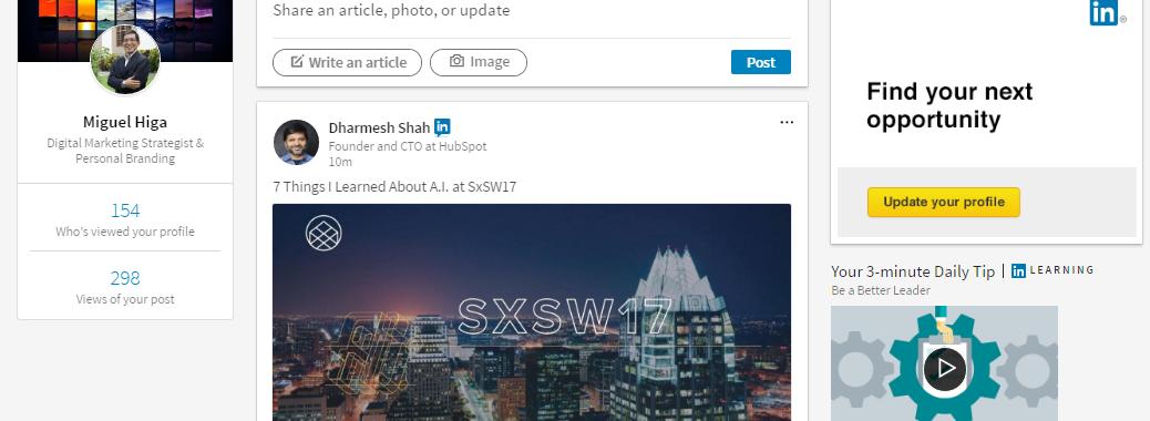 El rediseñado LinkedIn para desktop: más amigable y visual